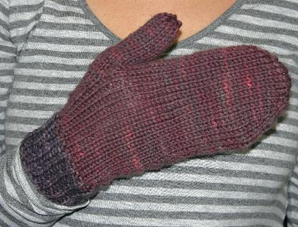 Ivy Brambles Top Down Mittens Pattern