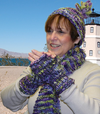 Ivy Brambles Quick Knit Hat Scarf and Mitts Pattern