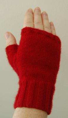 Ivy Brambles Tranquility Cashmere Fingerless Mitts Pattern