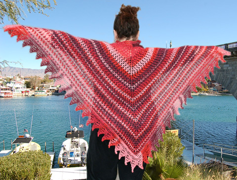 Ivy Brambles Trellis Stripes Shawl Pattern