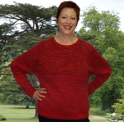 A Walk in the Woods Top Down Raglan Sweater Kit