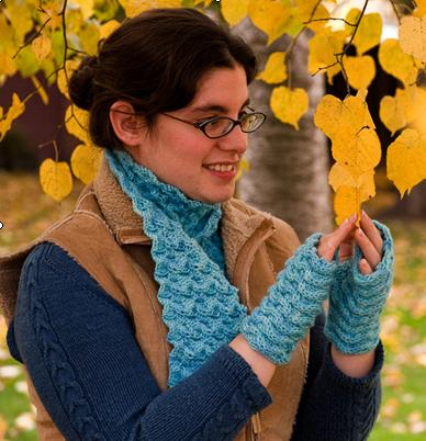 Ivy Brambles Water Scarf and Mitts Pattern by Patti Waters