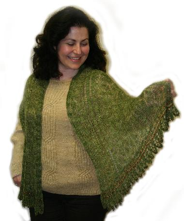 Ivy Brambles Woodland Path Lace Scarf Pattern