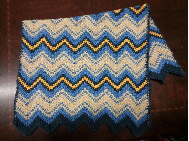 Ivy Brambles Zigzag Crochet Blanket Pattern