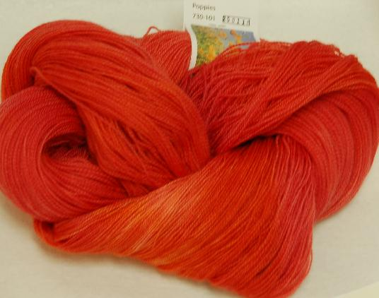 Ivy Brambles Romantica Merino Lace Yarn - 101 Poppies