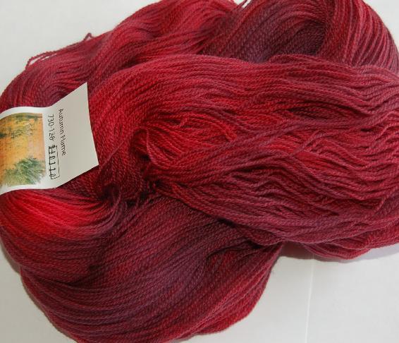 Ivy Brambles Romantica Merino Lace Yarn - 126 Autumn Flame
