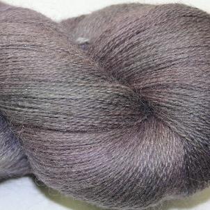Ivy Brambles Silver Cloud Suri Alpaca Glitter Lace Yarn - 103 Storm