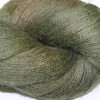 Ivy Brambles Silver Cloud Suri Alpaca Glitter Lace Yarn - 110 Pine Tree
