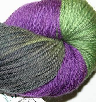 Ivy Brambles Superwash Worsted Yarn #206 Eggplant