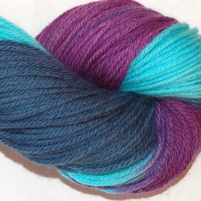 Ivy Brambles Superwash Worsted Yarn #208 Blue Orchid