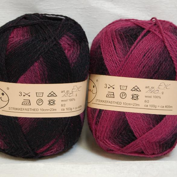 Kauni Yarn Effektgarn wool 100% 8/2 in Colorway EYC 150 grams - 660 yards