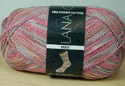 Lana Grossa Meilenweit Cotton 100 Max Sock Yarn #3354