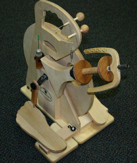 Merlin Tree Hitchhiker Double Treadle Spinning Wheel