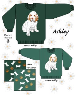 Needle Beetle Sweater Pattern Ashley The Clumber Spaniel