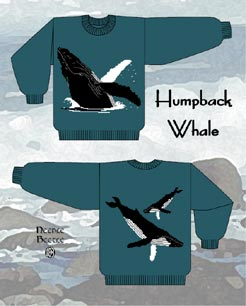 Needle Beetle Humpback Whale Sweater Pattern