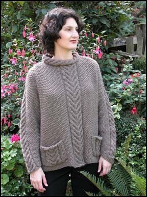 Cascade Raglan Cable Saddle Shoulder Sweater Pattern