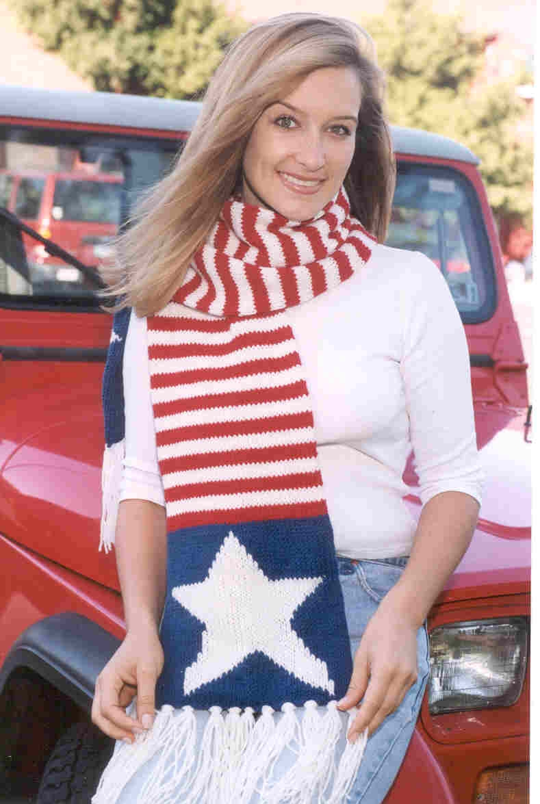 Encore Stars and Stripes Scarf Pattern #F071