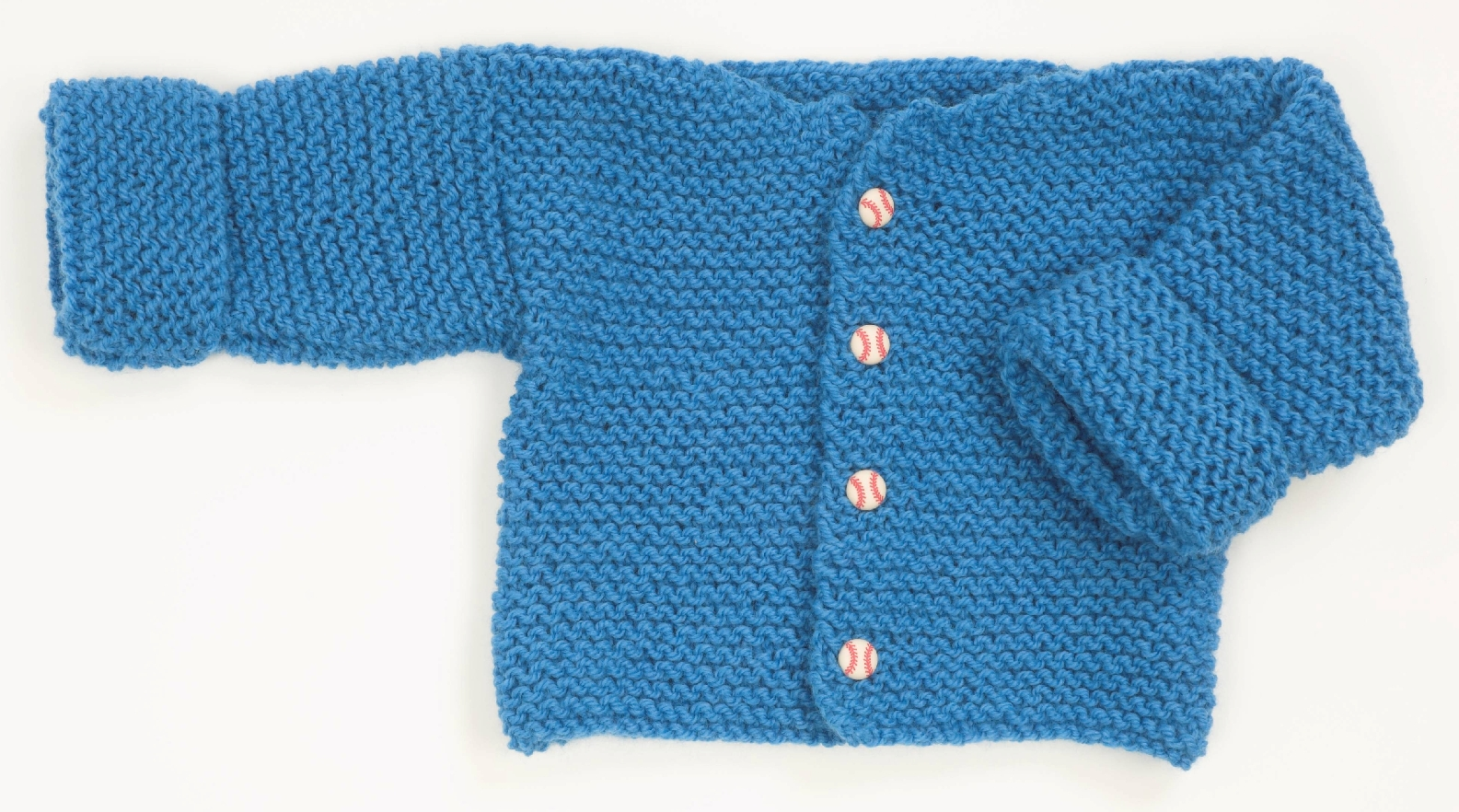 Easy Garter Stitch Baby Sweater Pattern #F165