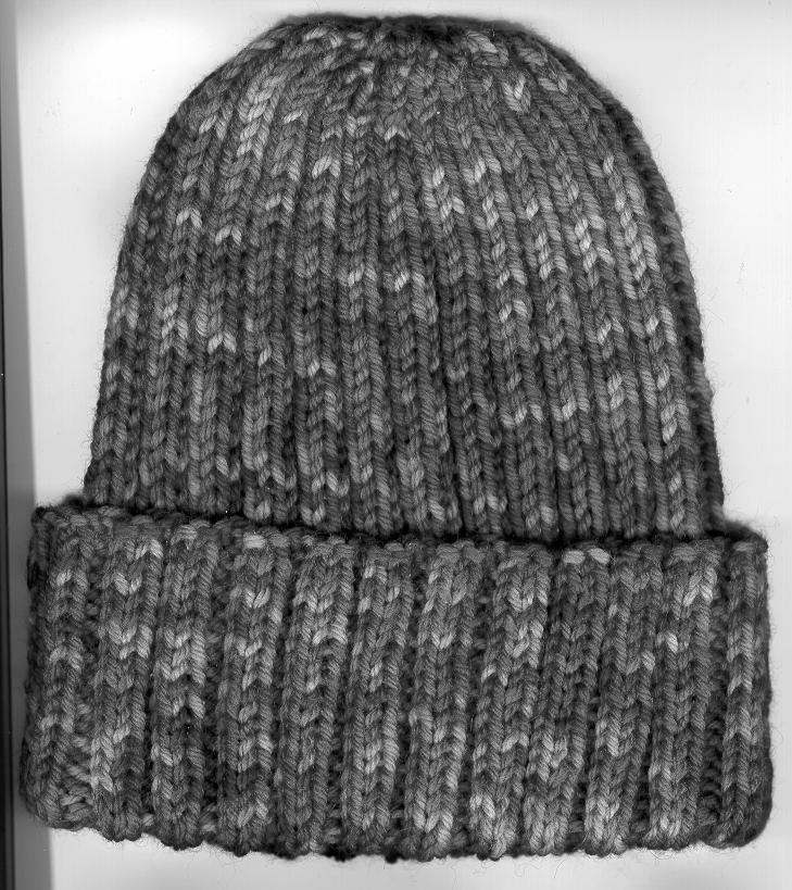 Encore Colorspun Ribbed Watchcap Free Pattern #F003