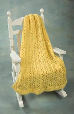 Encore Chunky Lace Baby Throw Pattern - F440