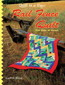 5-yard Rail Fence Twin Quilt patterns - CraftConn.com: Unique
