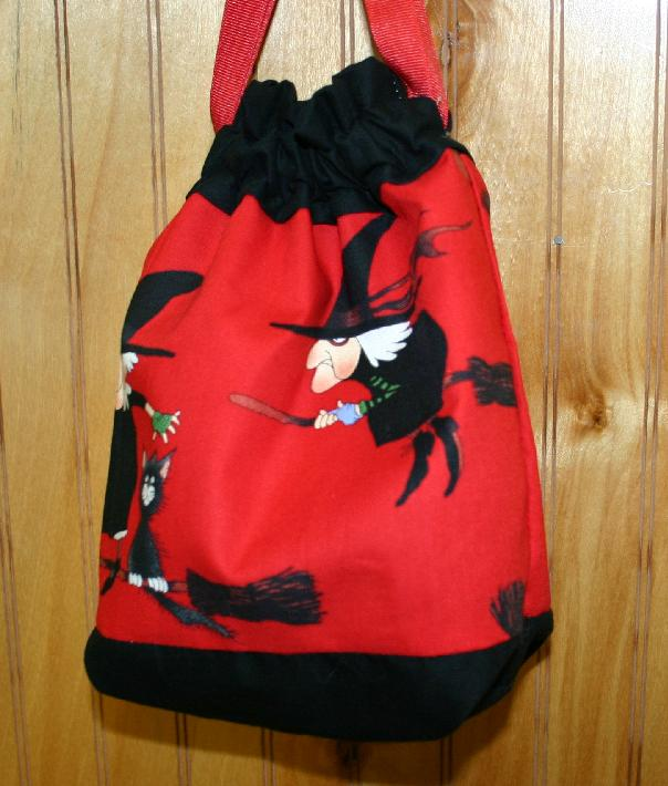 Cheeky Sock Bag - 114 Witches (Red)